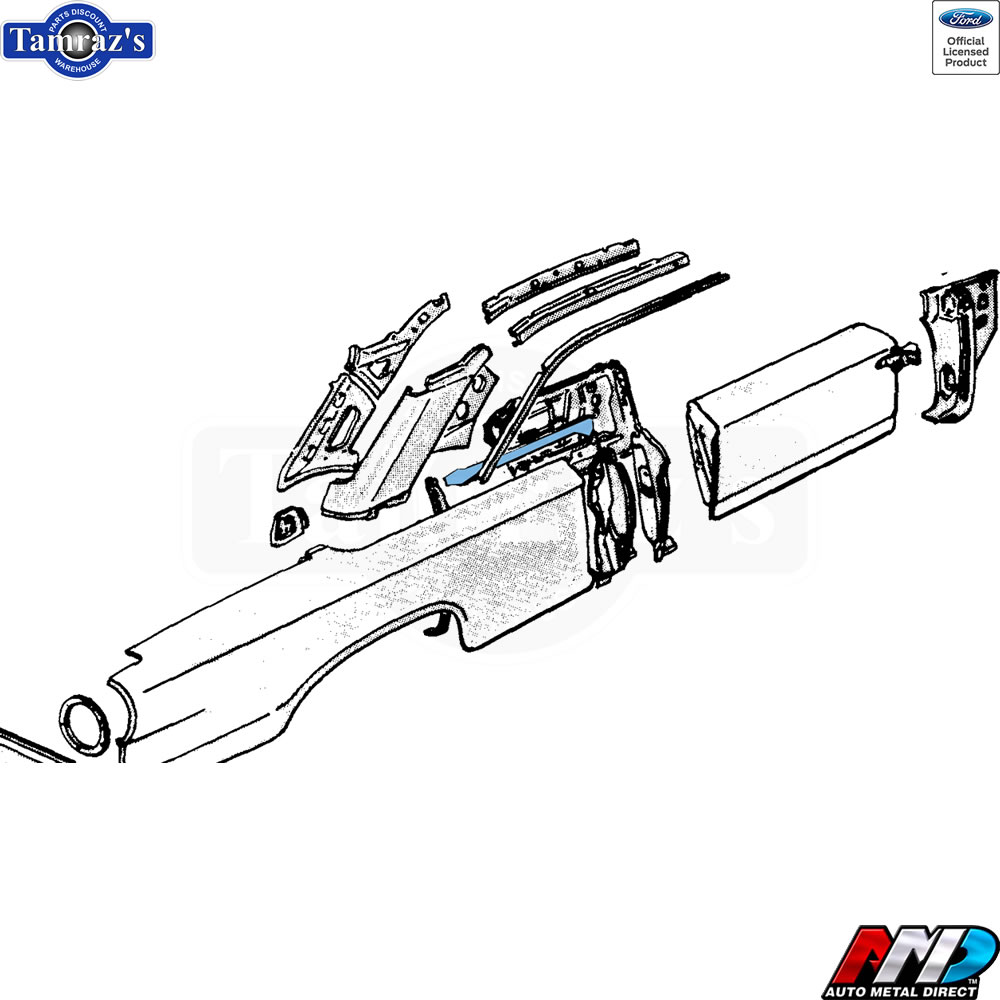 NEW from AMD 63 Ford Galaxie Upper Quarter Panel