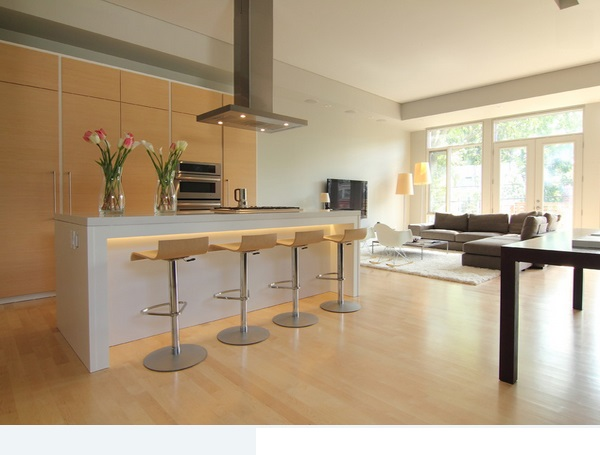 Clear Maple Kitchen Cabinets