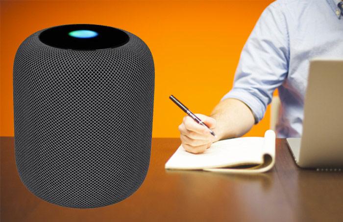 تسجيل الملاحظات على HomePod باستخدام سيري