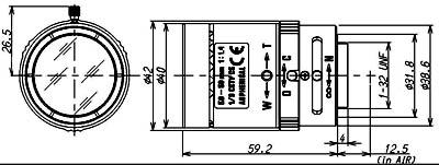 1/3 5-50mm F/1.4 High Resolution Aspherical Vari-Focal