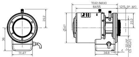 1/2.7 2.8-12MM F/1.4 Aspherical