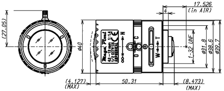 1/2 4.0-12mm F/1.2 Aspherical with connector