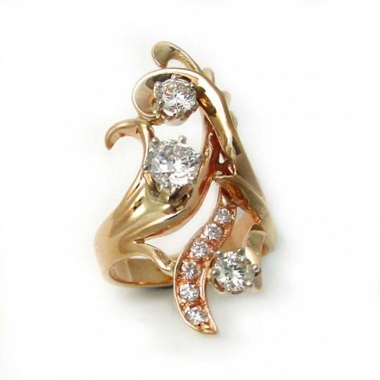 Moissanite Ruby and Diamond Ring  TamRon Jewelry