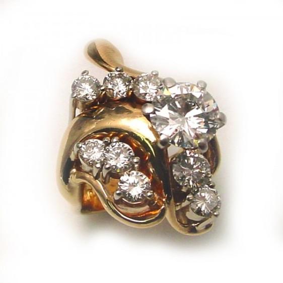 Gold Free Form Diamond Ring TamRon Jewelry
