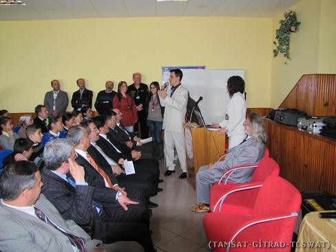 TAMSAT-Genç Takımının projeleri açıklanırken.