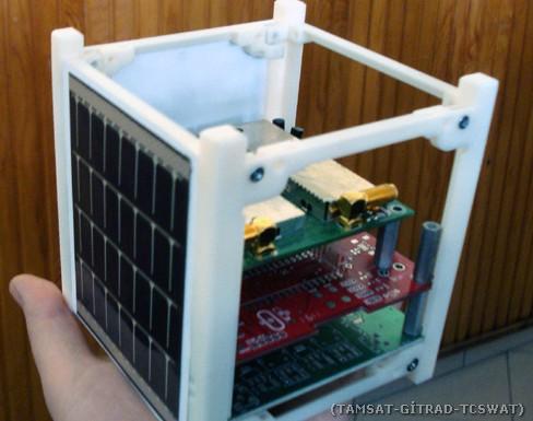 1U model uydu yapısı.