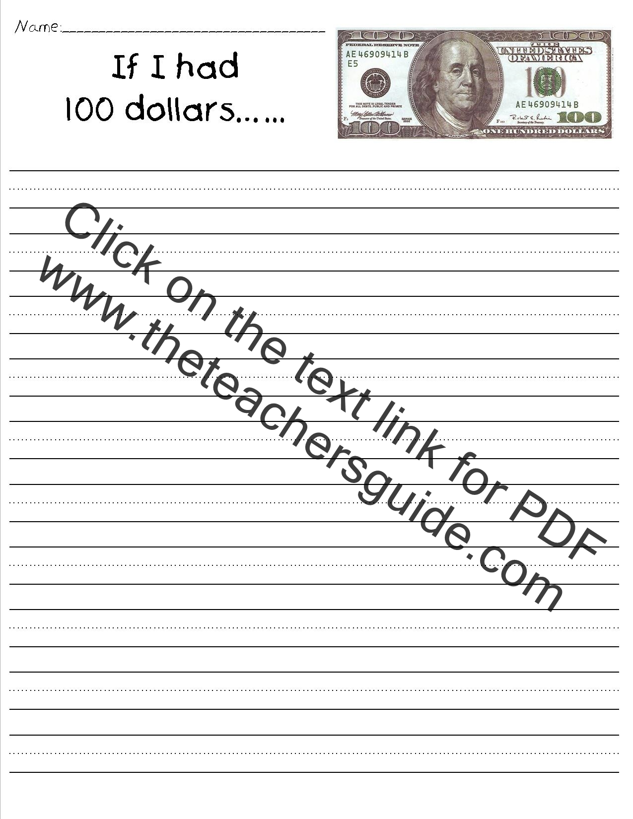 100th Day Of School Printable Worksheets