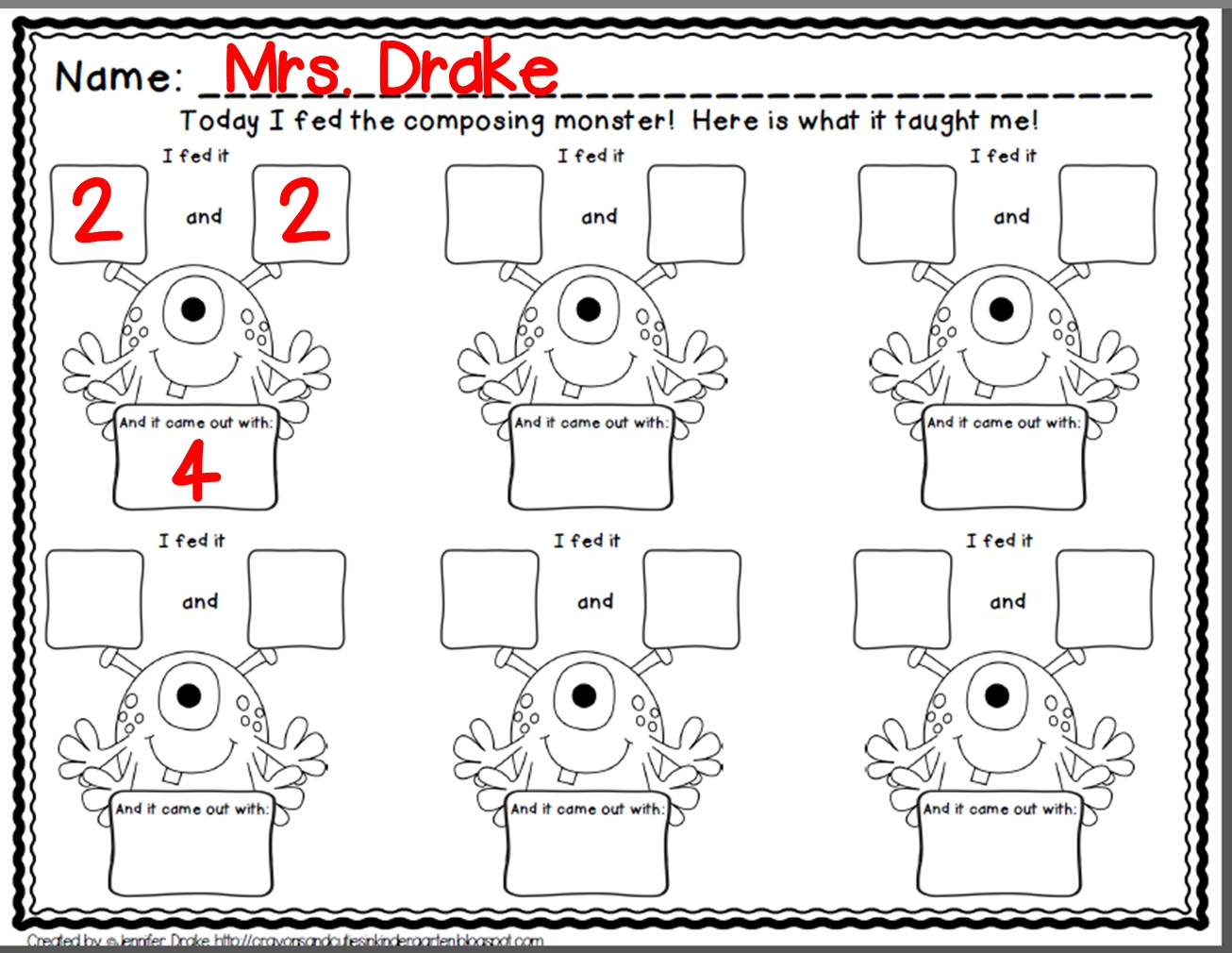Free Composing And Decomposing Numbers Worksheets