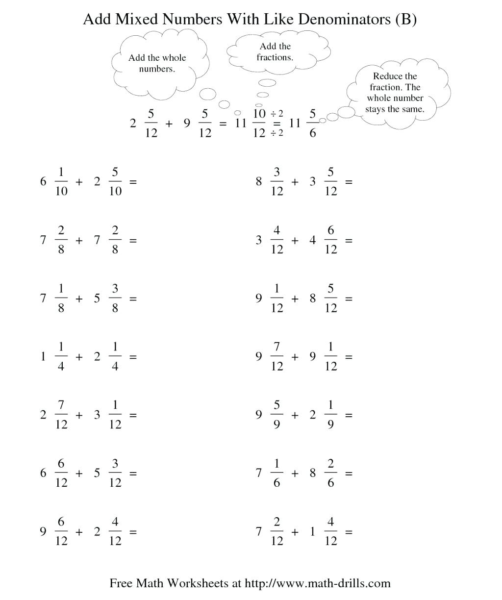 hight resolution of Fraction Worksheets Subtraction   Printable Worksheets and Activities for  Teachers