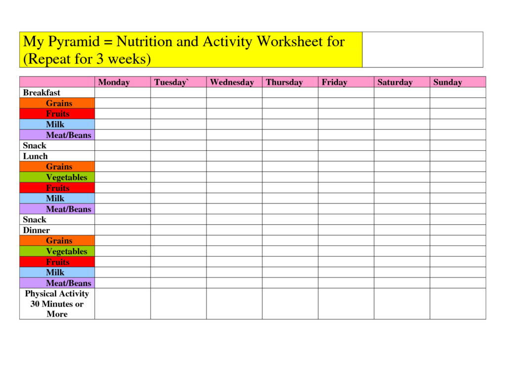 Metabolism And The Optimal Meal For School Worksheet