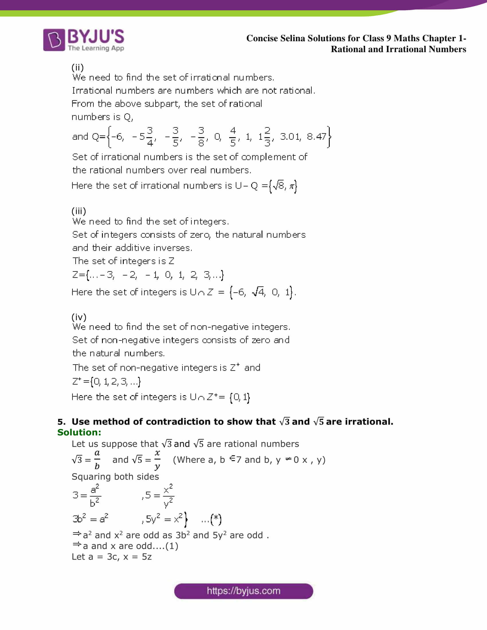 Worksheets On Rational And Irrational Numbers For Grade 9