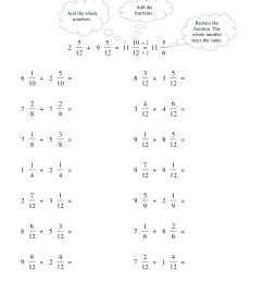 Adding Simple Fractions Worksheet   Printable Worksheets and Activities for  Teachers [ 1224 x 1024 Pixel ]