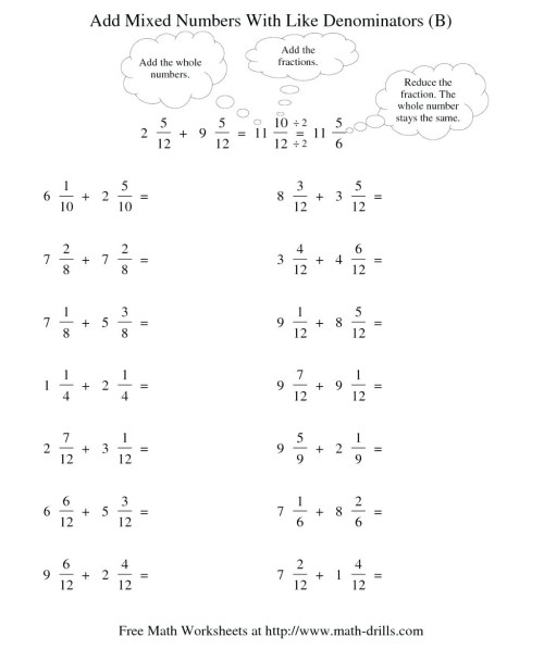 small resolution of Adding Simple Fractions Worksheet   Printable Worksheets and Activities for  Teachers