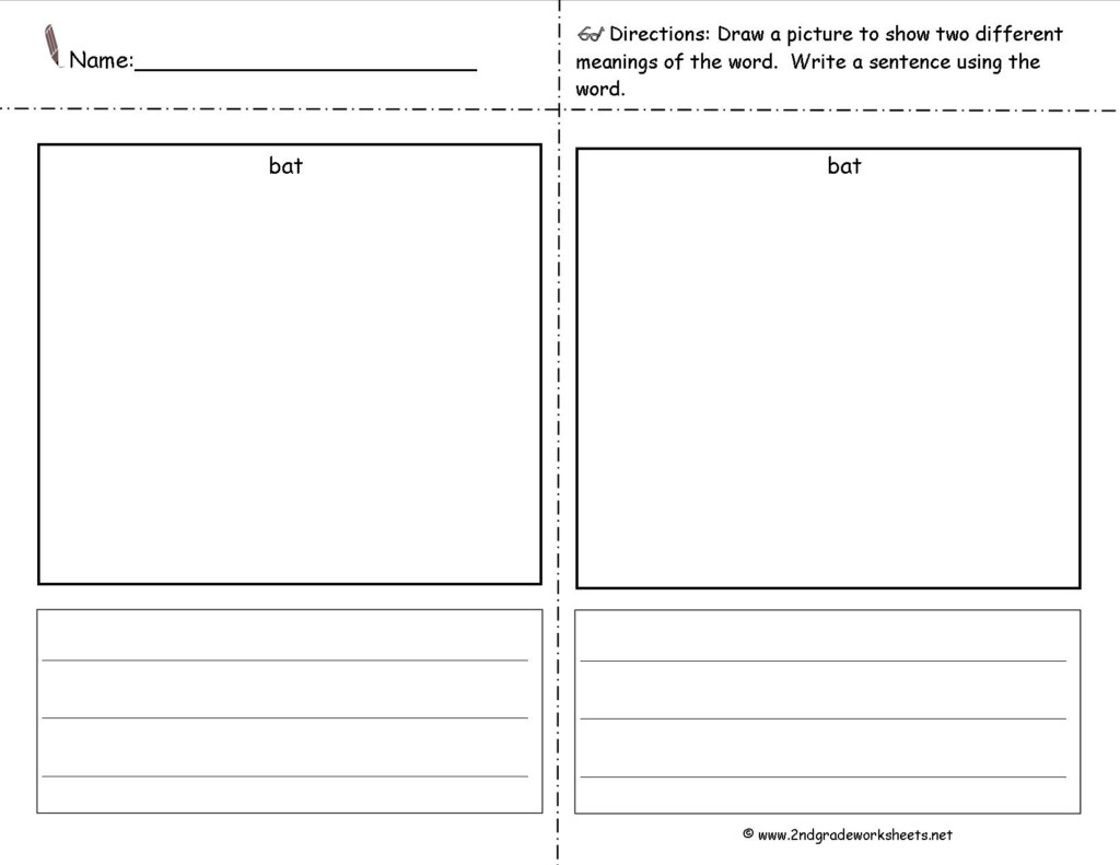 Multiple Meaning Words Worksheets 2nd Grade Free