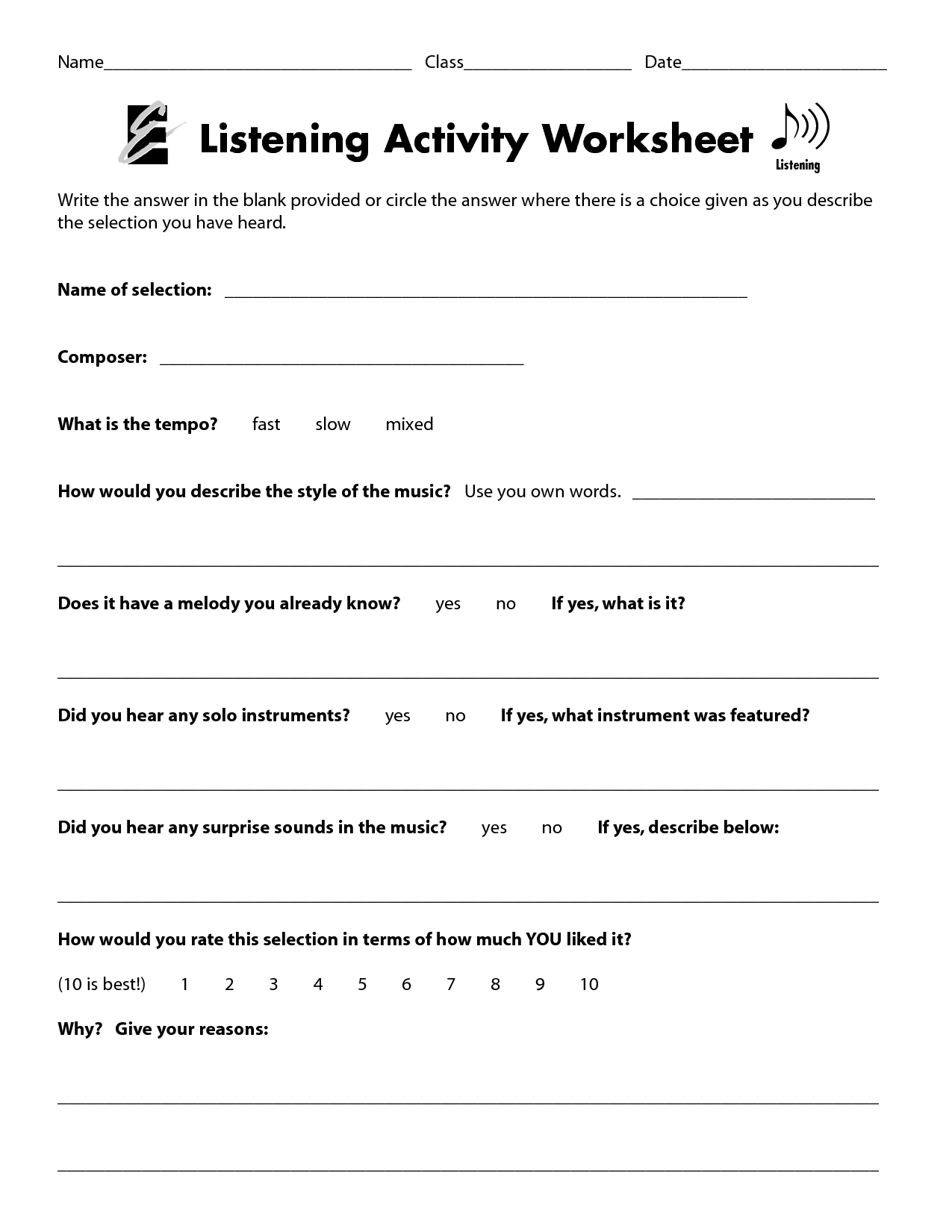 Study Skills Worksheets For Middle School Students