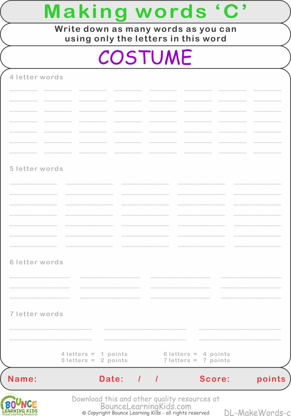 medium resolution of Printable Anagram Worksheet   Printable Worksheets and Activities for  Teachers