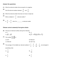 Rational Number System Worksheet   Printable Worksheets and Activities for  Teachers [ 1755 x 1240 Pixel ]