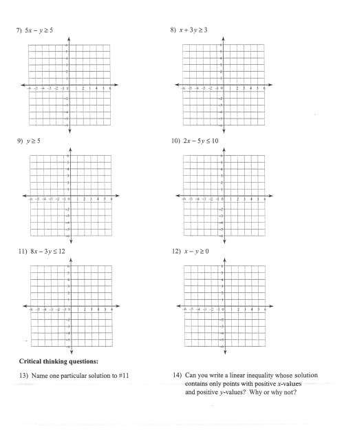 small resolution of Two Step Inequalities Worksheet Answers   Printable Worksheets and  Activities for Teachers