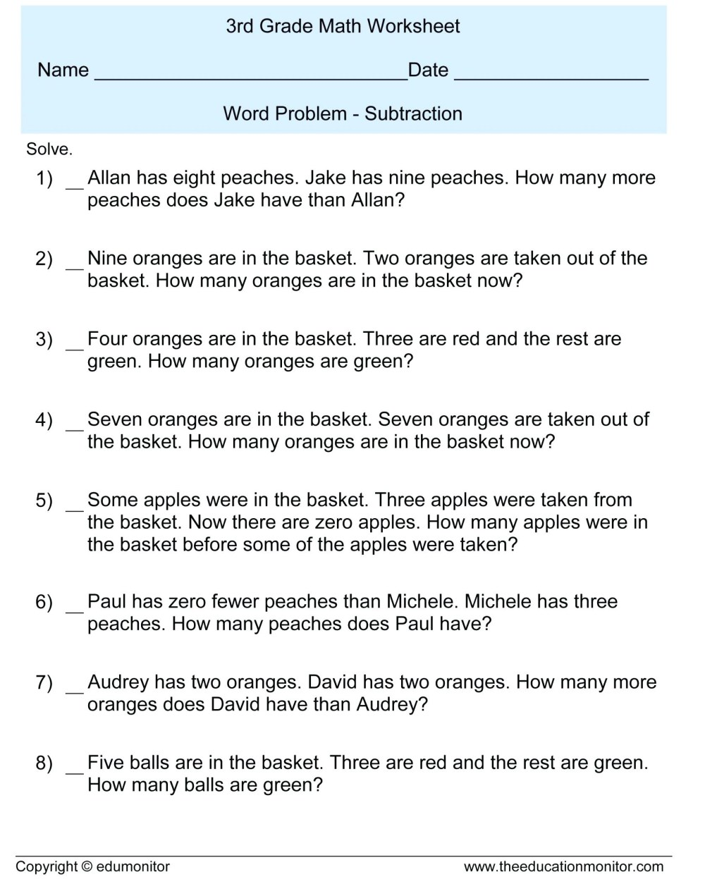 medium resolution of 7 Grade Math Worksheets Word Problems   Printable Worksheets and Activities  for Teachers