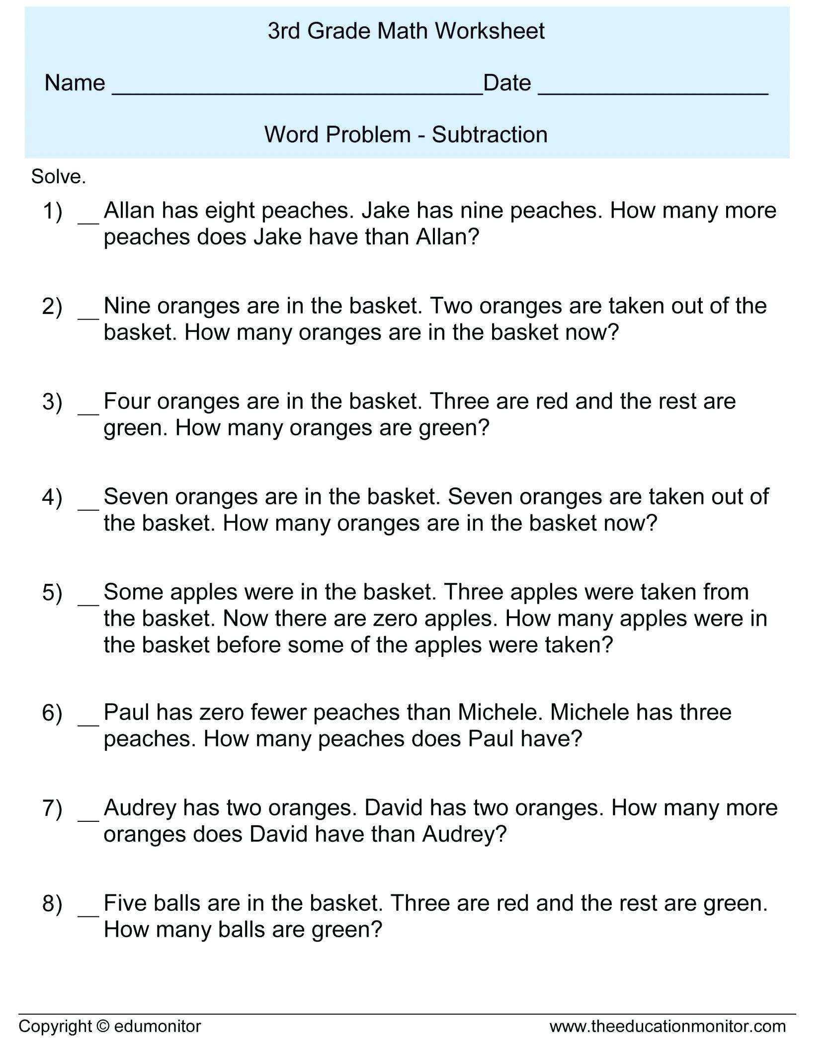 hight resolution of 7 Grade Math Worksheets Word Problems   Printable Worksheets and Activities  for Teachers