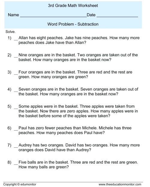small resolution of 7 Grade Math Worksheets Word Problems   Printable Worksheets and Activities  for Teachers