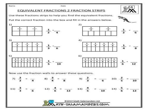 small resolution of Equivalent Fractions Worksheets Firecrackers   Printable Worksheets and  Activities for Teachers