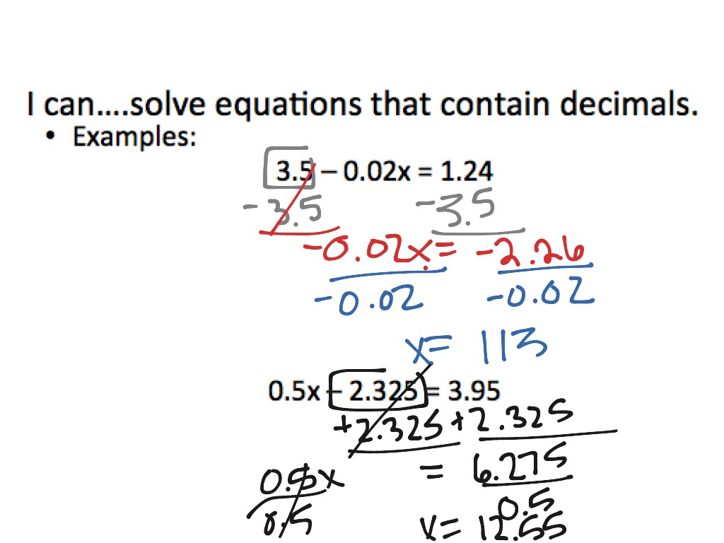 Multi Step Equations With Fractions Worksheet 8th Grade