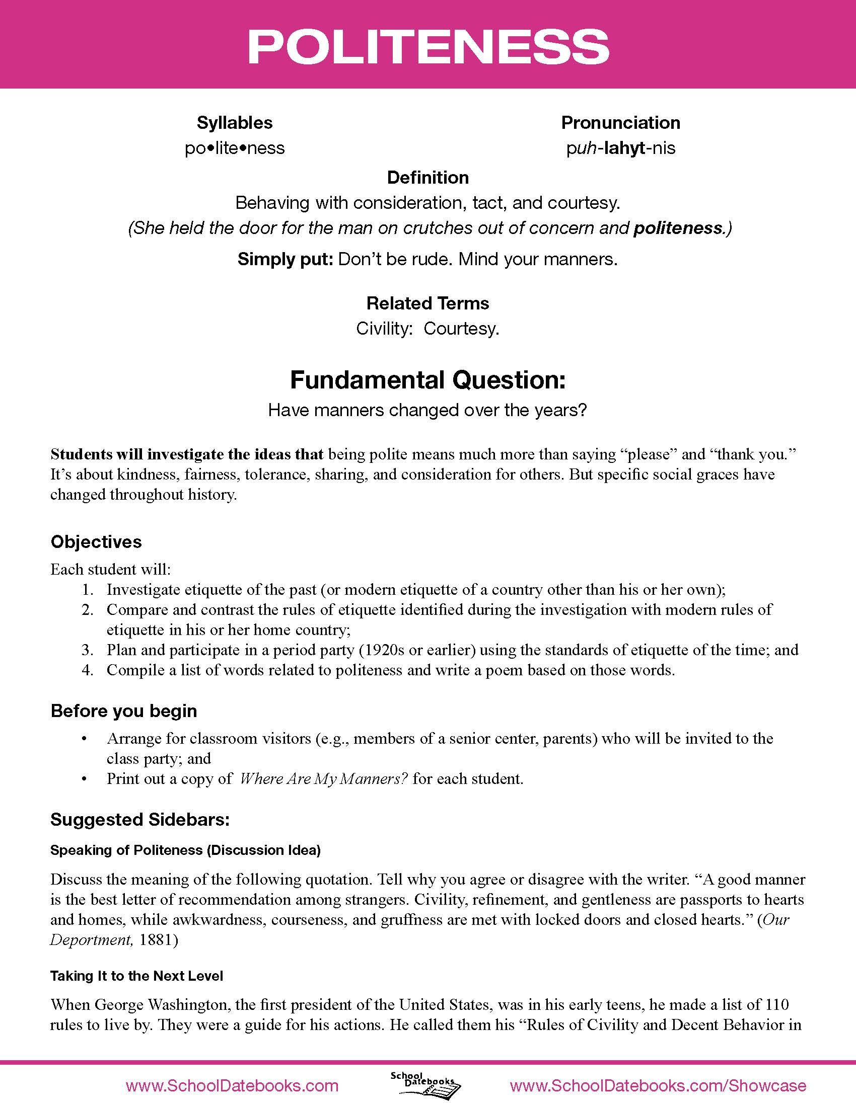 Character Education Worksheets High School