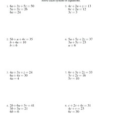 Elimination Math Worksheets   Printable Worksheets and Activities for  Teachers [ 1024 x 1024 Pixel ]