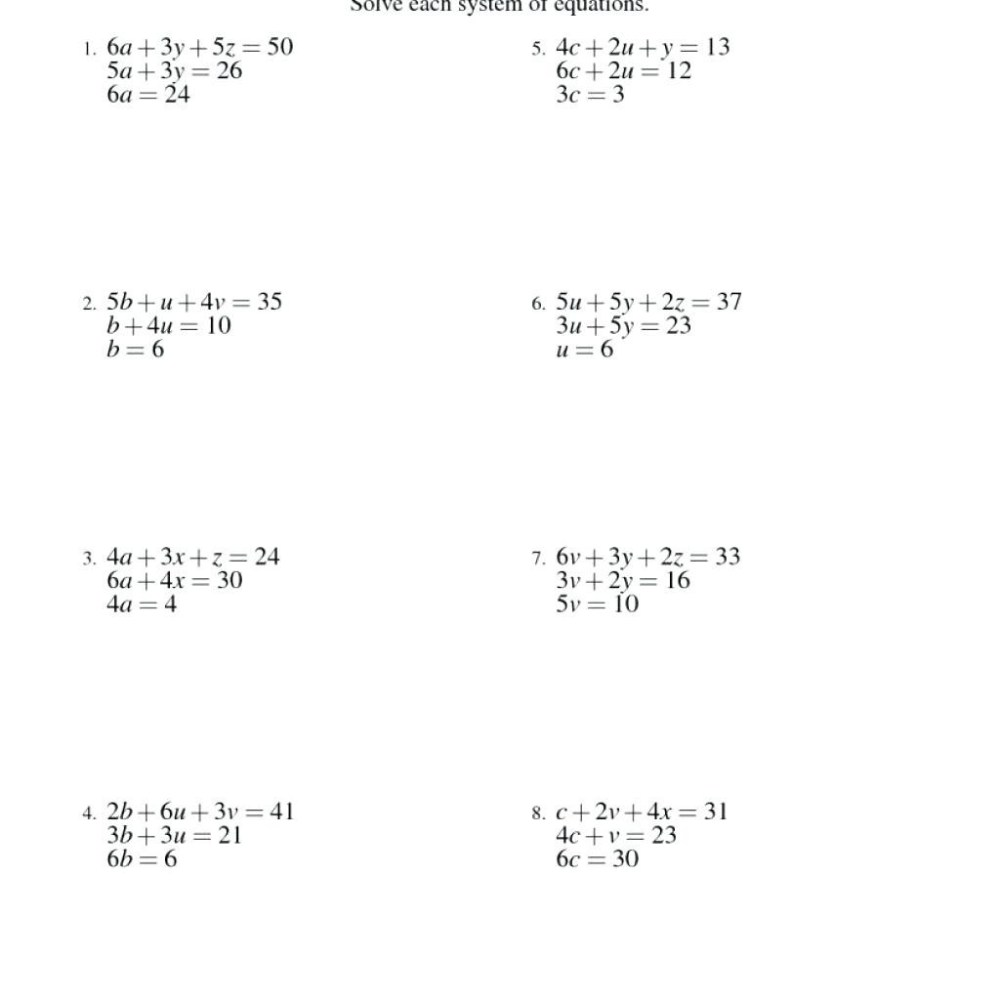medium resolution of Elimination Math Worksheets   Printable Worksheets and Activities for  Teachers