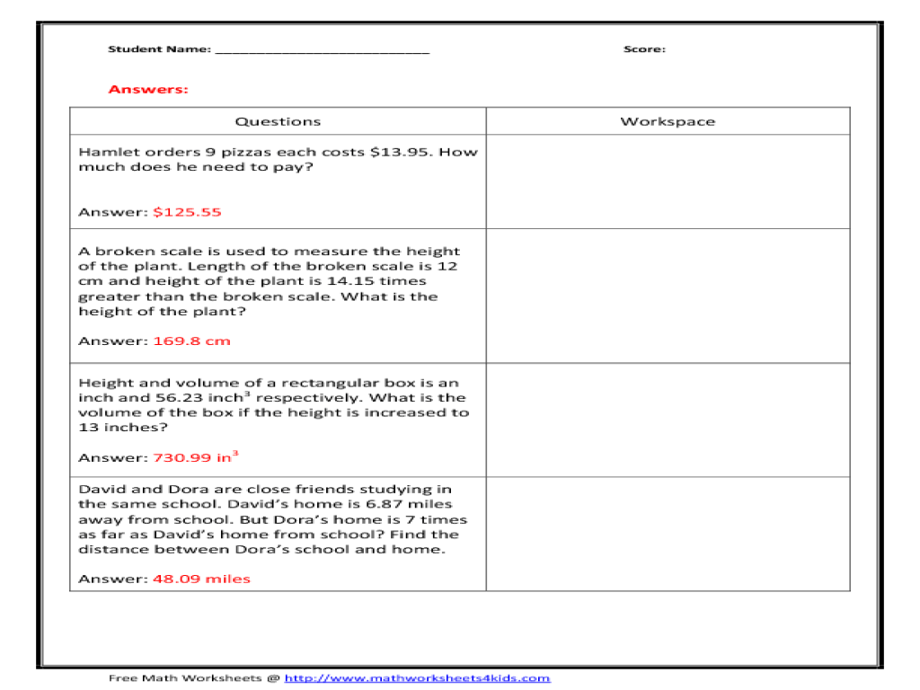 hight resolution of Mean Problems Worksheets   Printable Worksheets and Activities for  Teachers