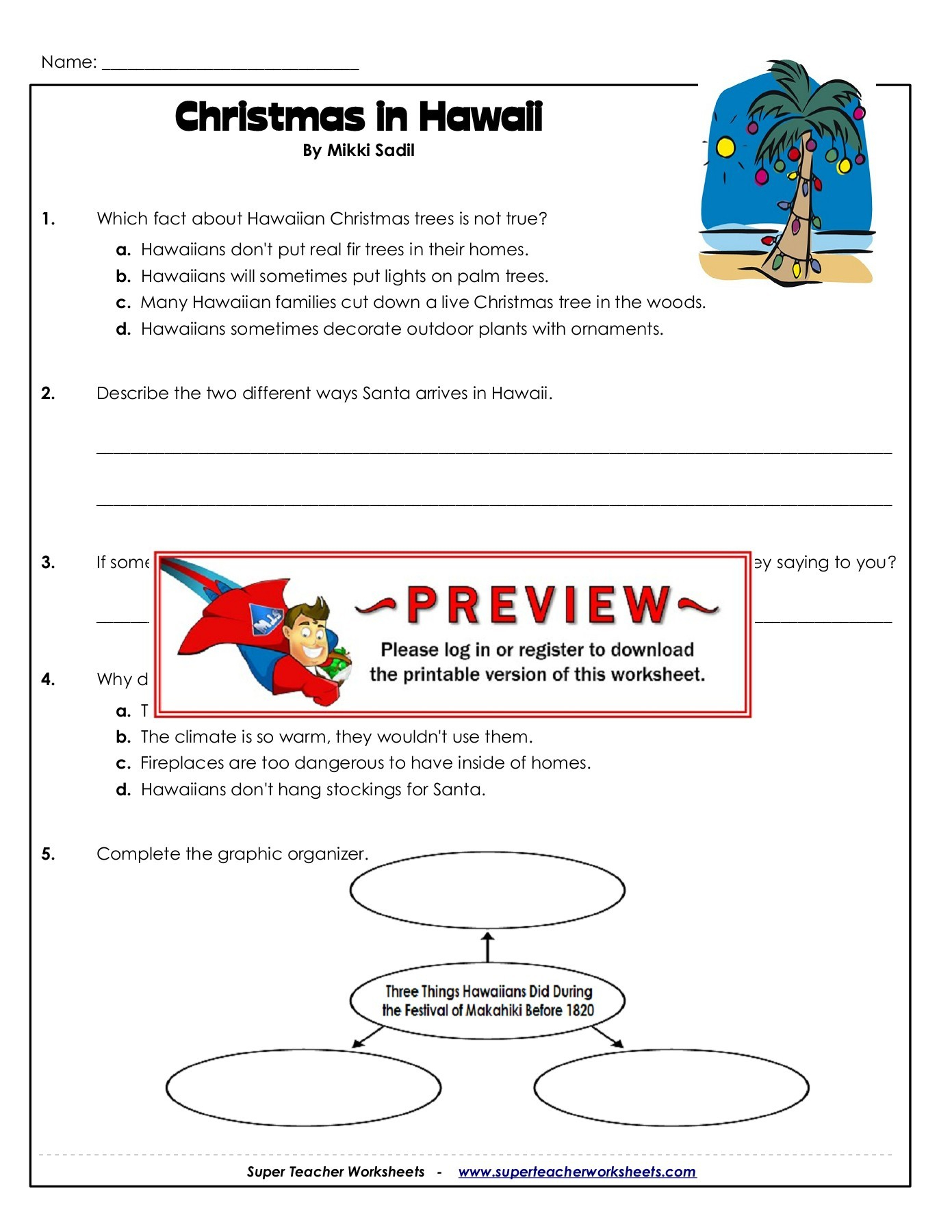 Super Teacher Worksheets Christmas Scavenger Hunt Answers
