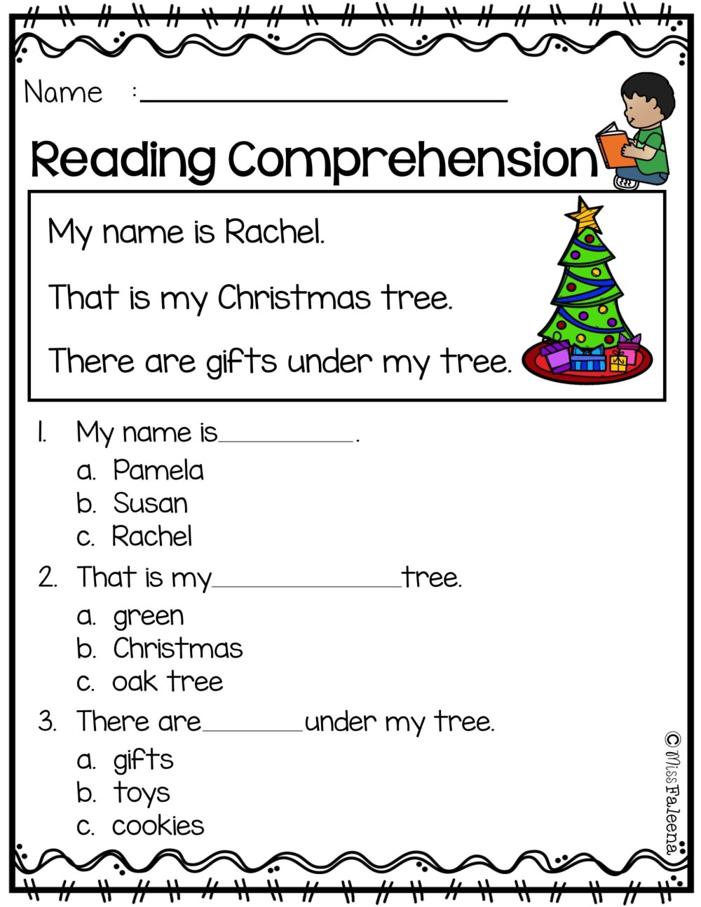 medium resolution of Christmas Themed Worksheets 3rd Grade   Printable Worksheets and Activities  for Teachers