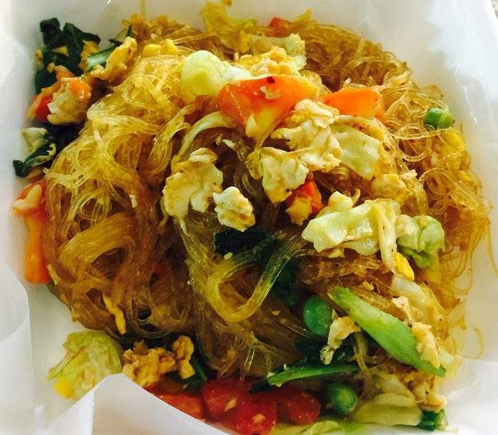 Fried glass noodles