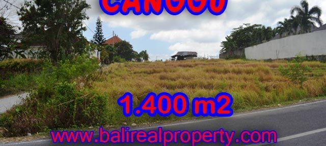 Tanah dijual di Canggu 1.400 m2 di Batu Bolong