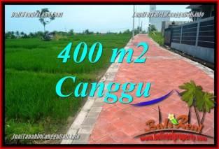 JUAL TANAH MURAH di CANGGU BALI 4 Are View sawah, lingkungan villa