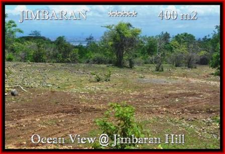 TANAH DIJUAL MURAH di JIMBARAN BALI 400 m2 View laut Lingkungan villa