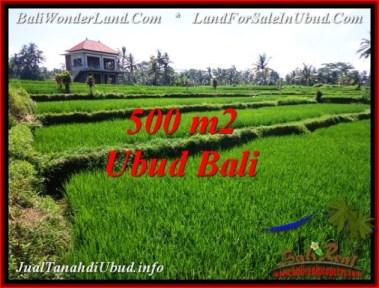 JUAL MURAH TANAH di UBUD BALI 500 m2 View Sawah, link. villa