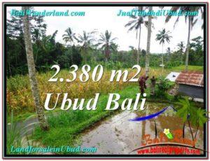 TANAH di UBUD BALI DIJUAL MURAH 2,380 m2 di Ubud Payangan