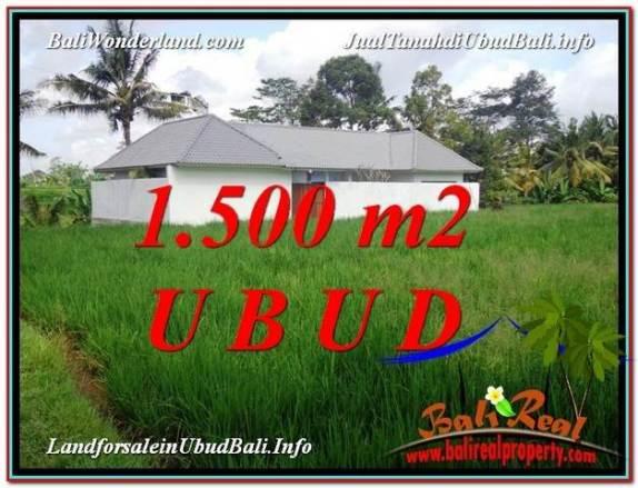 JUAL TANAH MURAH di UBUD BALI 1,500 m2  View  link Villa
