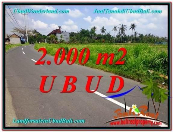 JUAL MURAH TANAH di UBUD 2,000 m2 di Sentral Ubud