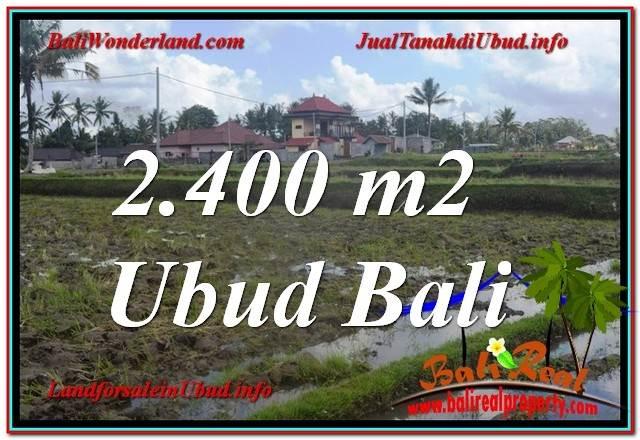 TANAH MURAH DIJUAL di UBUD BALI 2,400 m2  View Sawah lingkungan Villa