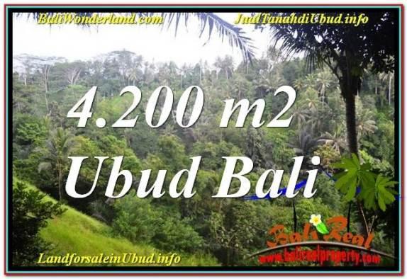JUAL TANAH MURAH di UBUD 4,200 m2 View Tebing dan Sungai, Link. Villa