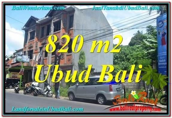 DIJUAL TANAH MURAH di UBUD BALI 820 m2 di Sentral / Ubud Center