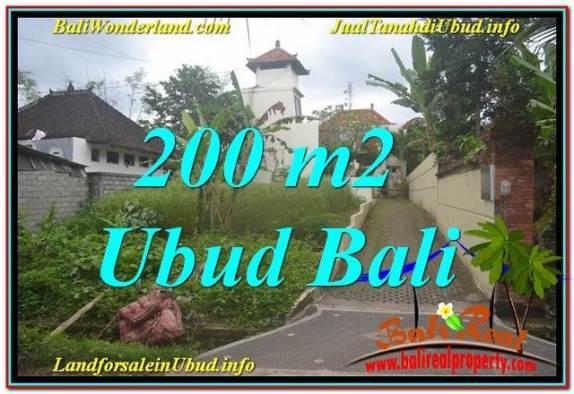 JUAL TANAH di UBUD 200 m2  Lingkungan Villa