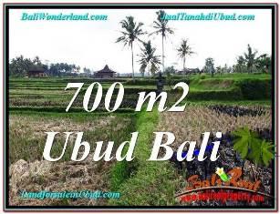 JUAL MURAH TANAH di UBUD BALI 700 m2  VIEW SAWAH, LINGKUNGAN VILLA