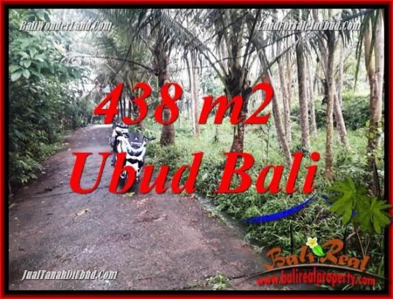 Tanah Murah jual di Ubud Bali 438 m2  View kebun, lingkungan Villa