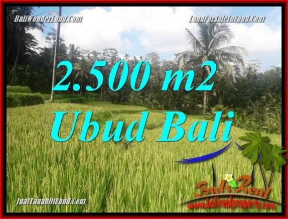 Tanah Murah di Ubud jual 25 Are View sawah, lingkungan Villa