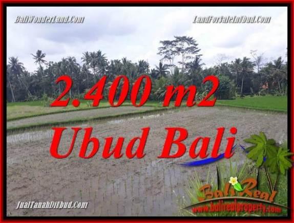 Tanah Murah di Ubud Dijual 2,400 m2 di Ubud Pejeng