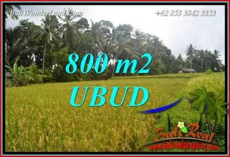 JUAL Tanah di Ubud 8 Are View sawah lingk. Villa